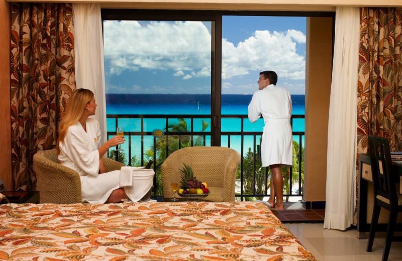 Guest room at Sandos Playacar Riviera Hotel and Spa.
