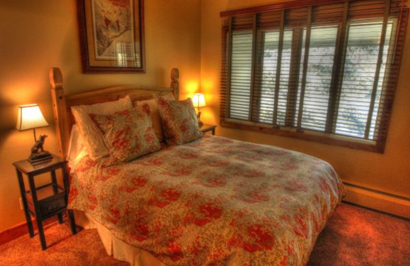 Vacation rental bedroom at SkyRun Vacation Rentals - Vail, Colorado.
