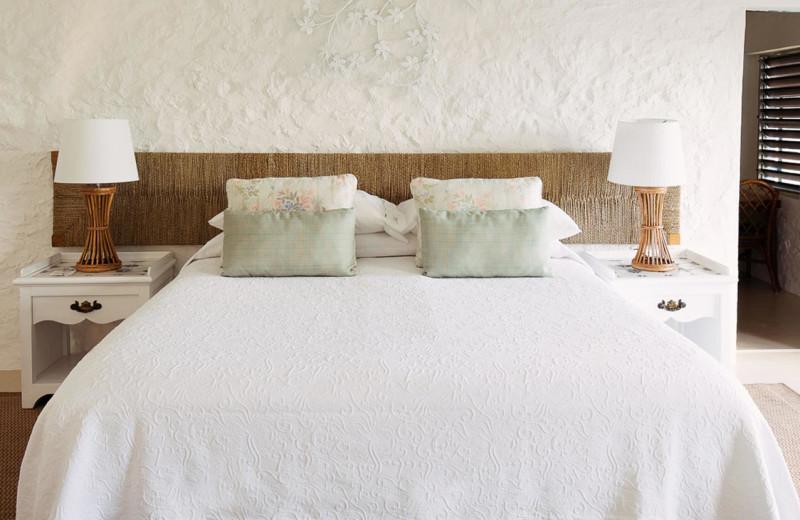Guest room at Guana Island Resort.