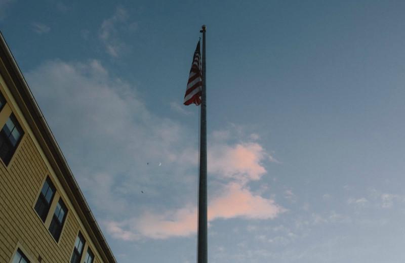 Flag at The Colonial Inn.