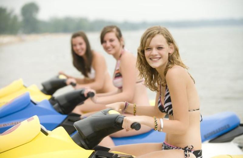 Water activities at ParkShore Resort.