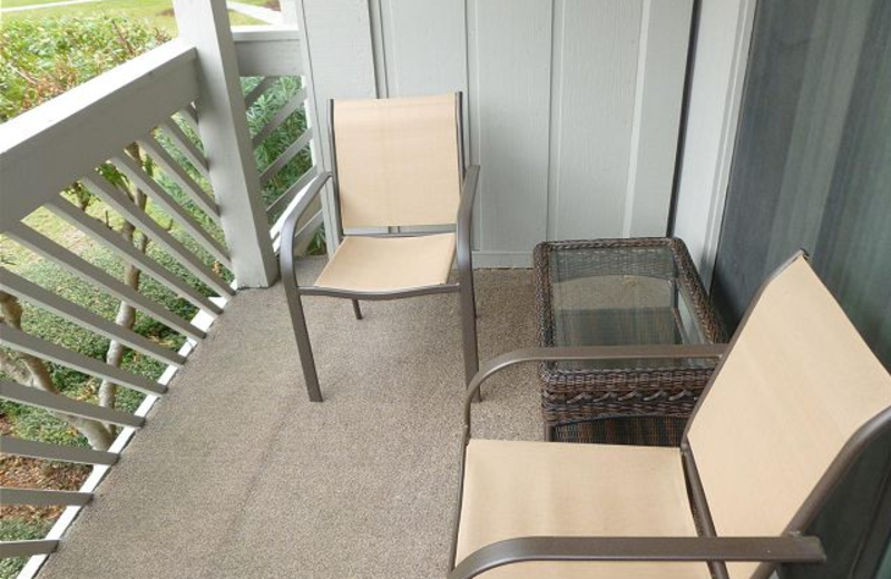 Vacation rental balcony at Myrtle Beach Vacation Rentals.