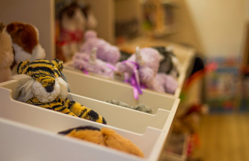 Gift shop stuffed animals at Emerson Resort & Spa.