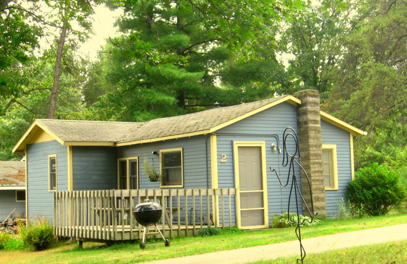 Cabin exterior at Shady Hollow Resort and Campground.