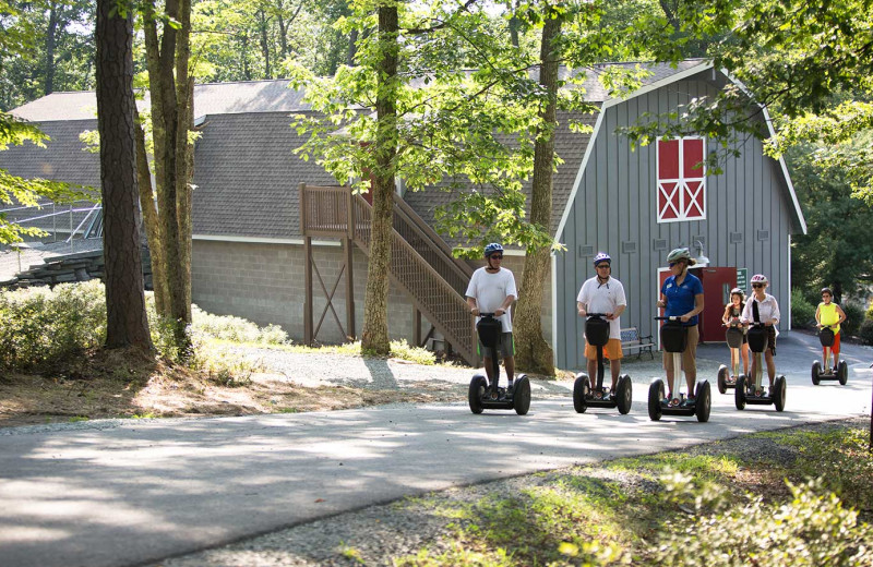 Segways at Woodloch Resort.