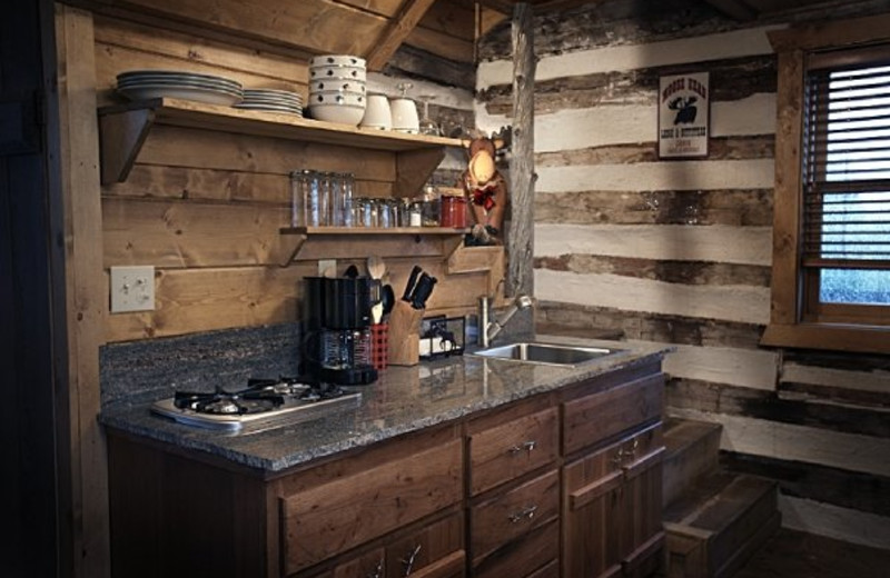 Kitchenette at Cottonwood Meadow Lodge.