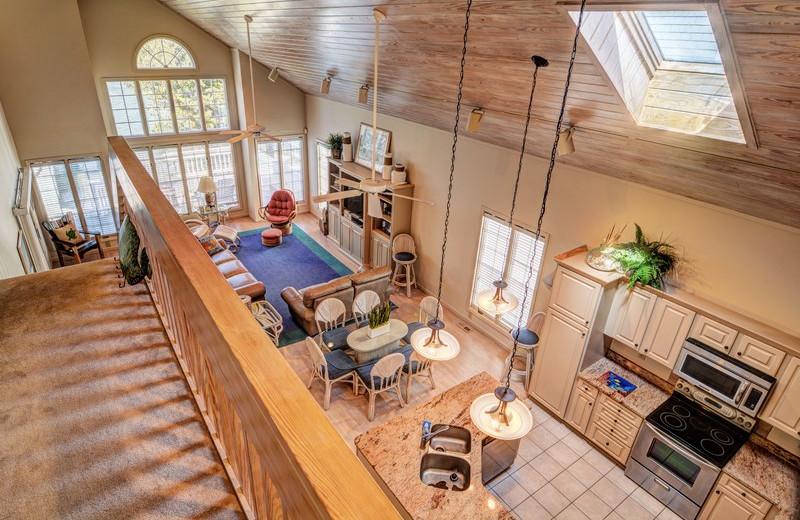 Rental interior at Topsail Realty.