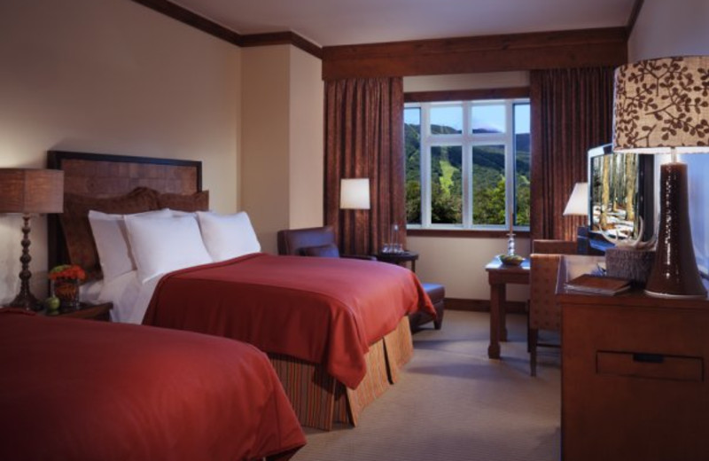 Double guest bedroom at Stowe Mountain Lodge.