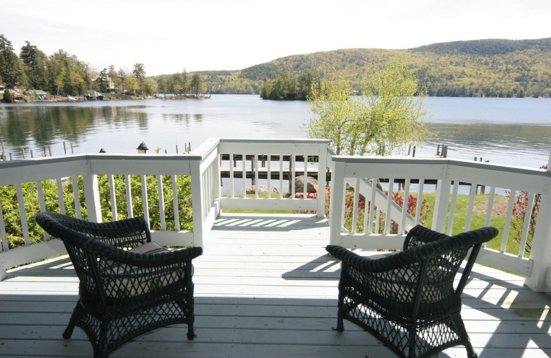 Guest balcony at The Quarters at Lake George.