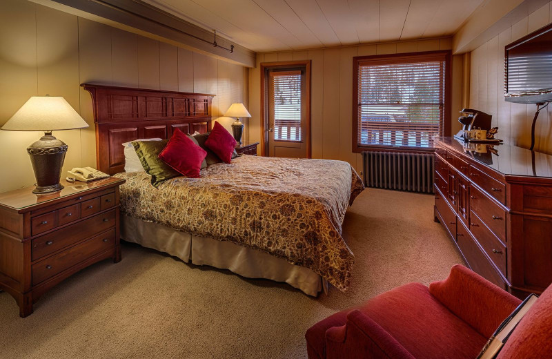 Mountain view guest room at Sugar Bowl Resort.