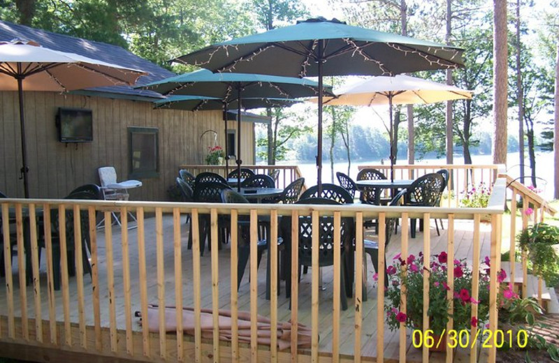 Patio at Blueberry Hill Resort.