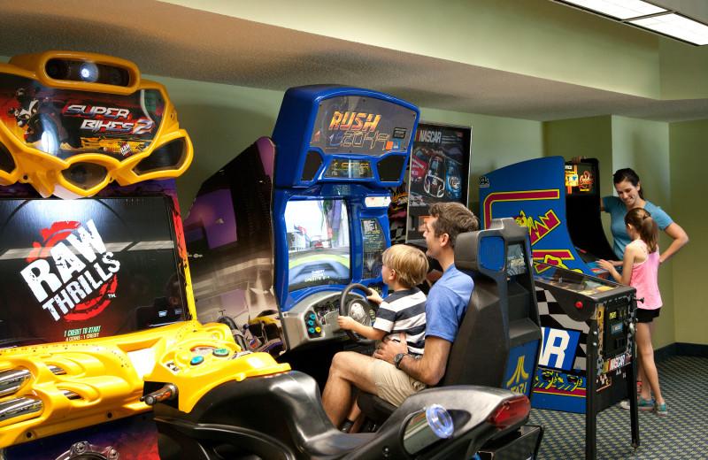 Arcade room at Caribbean Resort & Villas.