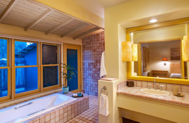 Guest bathroom at Travaasa Hana, Maui.
