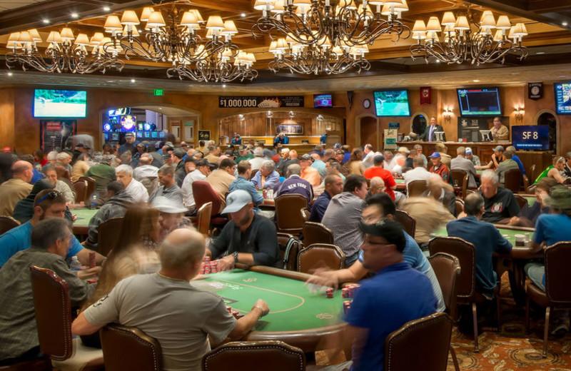 Poker room at Turning Stone Resort Casino.