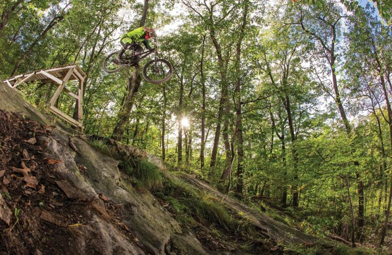 Mountain biking at Mountain Creek Resort.