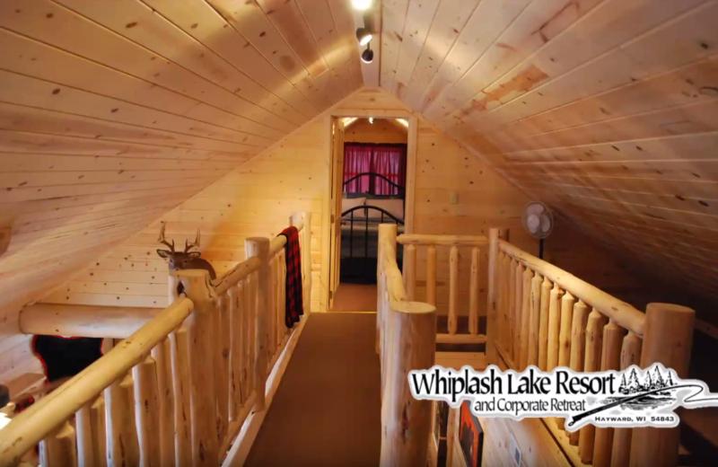 Cabin loft at Whiplash Lake Resort.