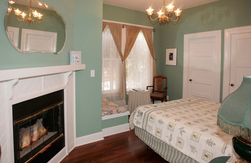 Guest room at Zaballa House.