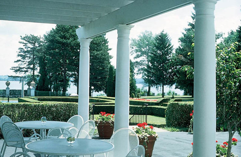 Outdoor patio at Geneva on the Lake.