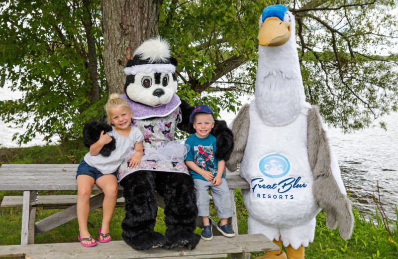 Kids mascot at Great Blue Resorts- Woodland Estate Resort.