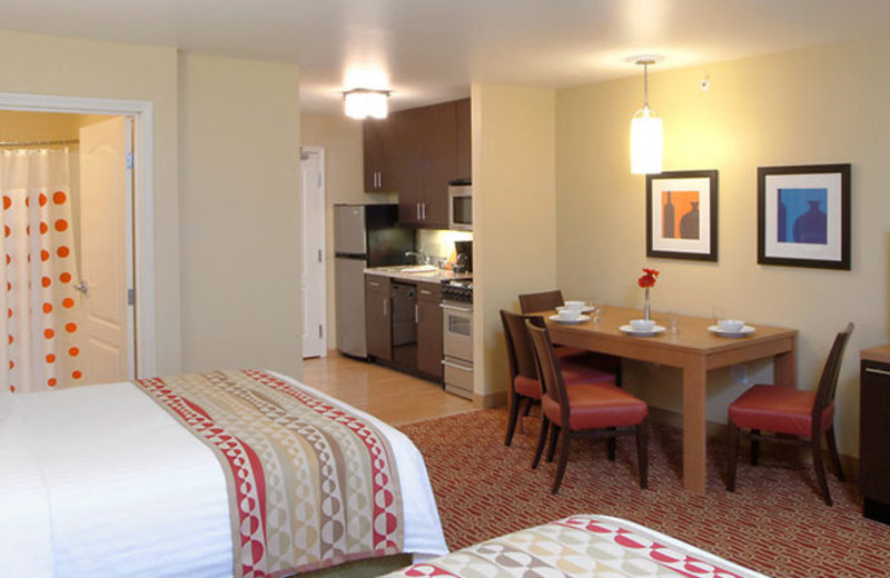 Guest room at TownePlace Suites by Marriott Erie.