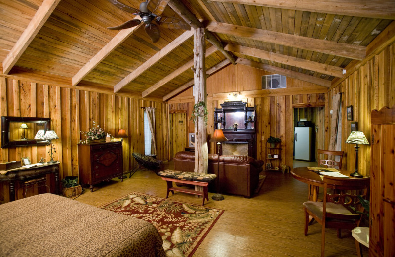 Cabin interior at Panther Valley Ranch.