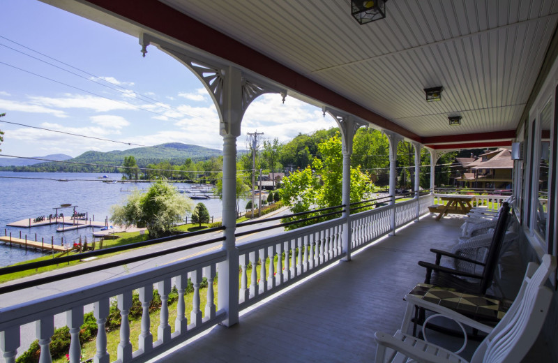 Rental balcony at Trout House Village Resort.