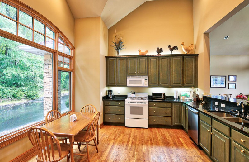 Rental kitchen at Chambers Realty & Vacation Rentals.