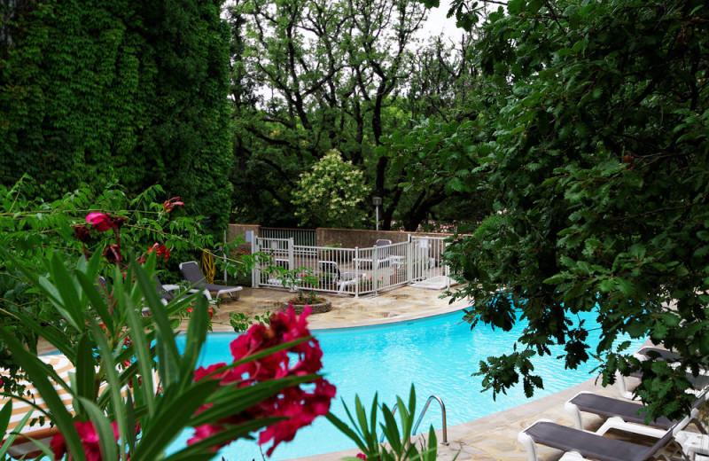 Outdoor pool at Hôtel Villa Borghèse.