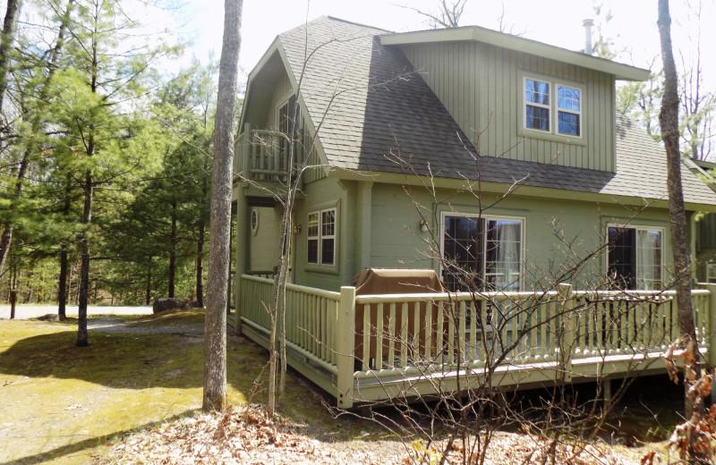 Cabin exterior at Garland Lodge and Resort.