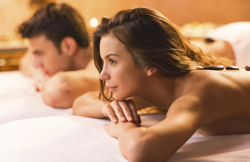 Couples massage at Beaver Run Resort & Conference Center.