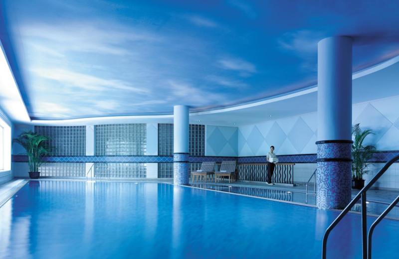 Indoor pool at Shangri-La Hotel-Hangzhou.