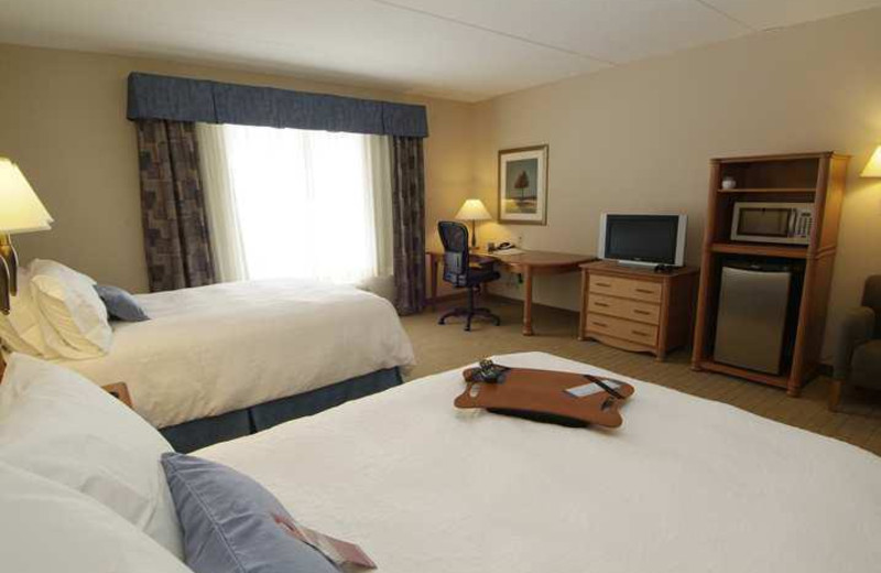 Guest Room at the Hampton Inn & Suites Guelph