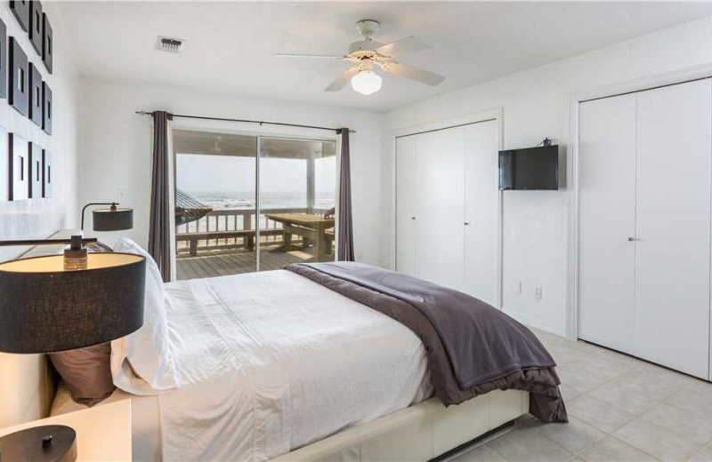 Rental bedroom at Gary Greene Vacation Rentals.