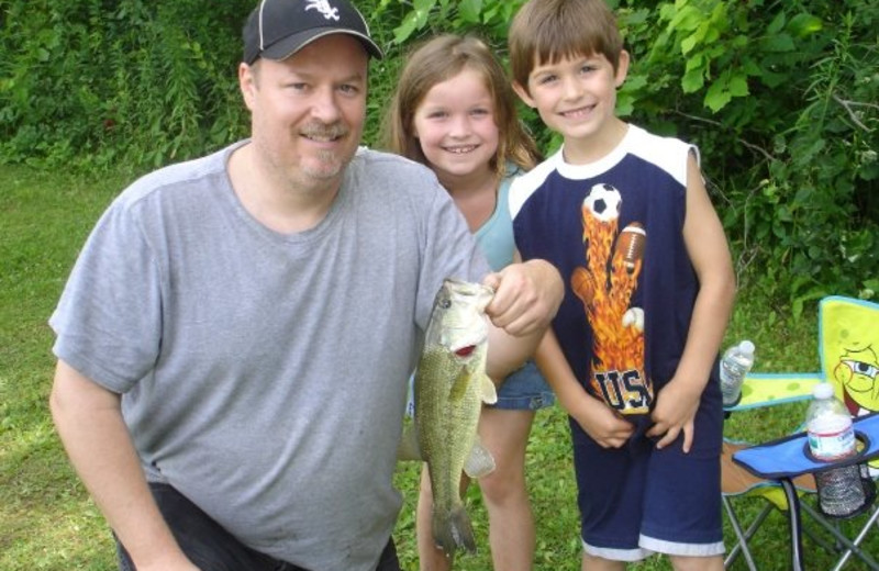 Family Fishing at Baraboo Hills Campground