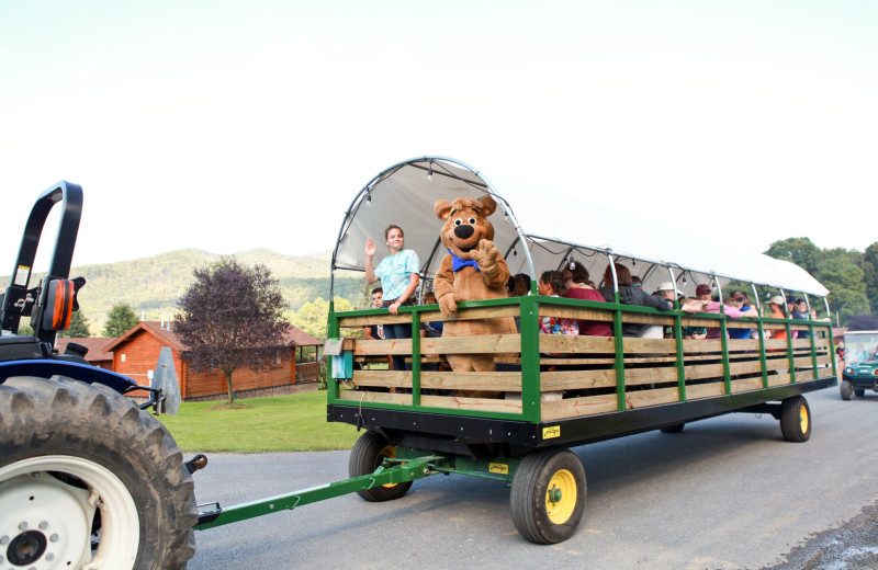Hay ride at Yogi Bear's Jellystone Park™ in Luray, VA.