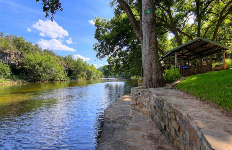 River side at New Braunfels Escapes.