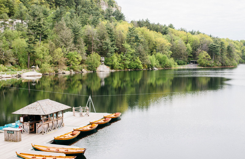 Dock at Mohonk Mountain House.