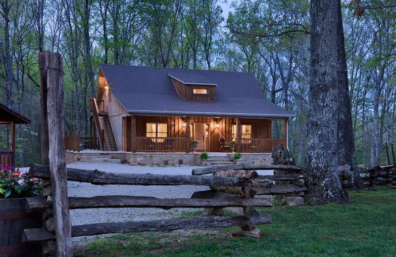 Cabin exterior at Caryonah Hunting Lodge.