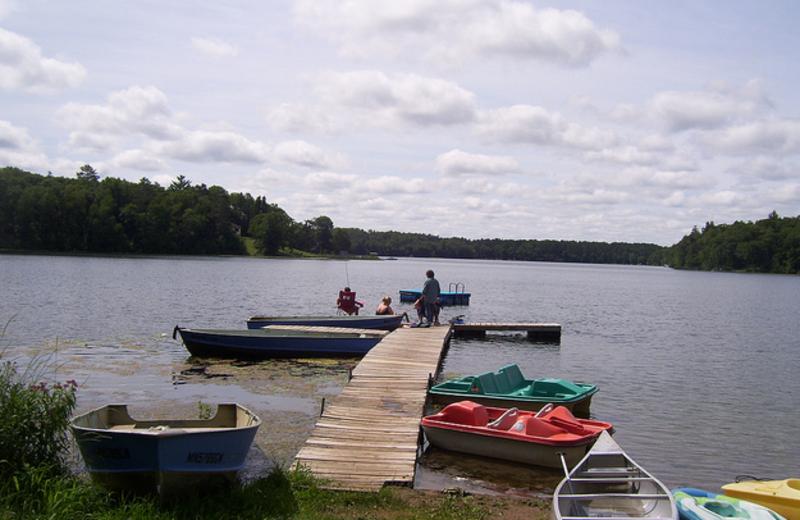 Dock view at Shady Hollow Resort.