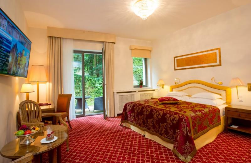 Guest room at Hotel Schloss Mönchstein.