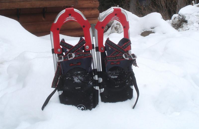 Snowshoeing at Heston's Lodge.