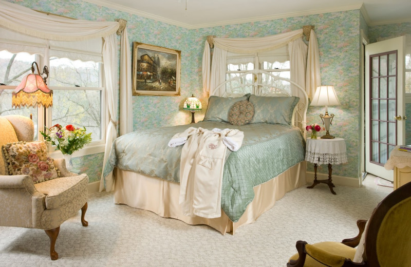 Guest room at Arsenic and Old Lace Bed & Breakfast.