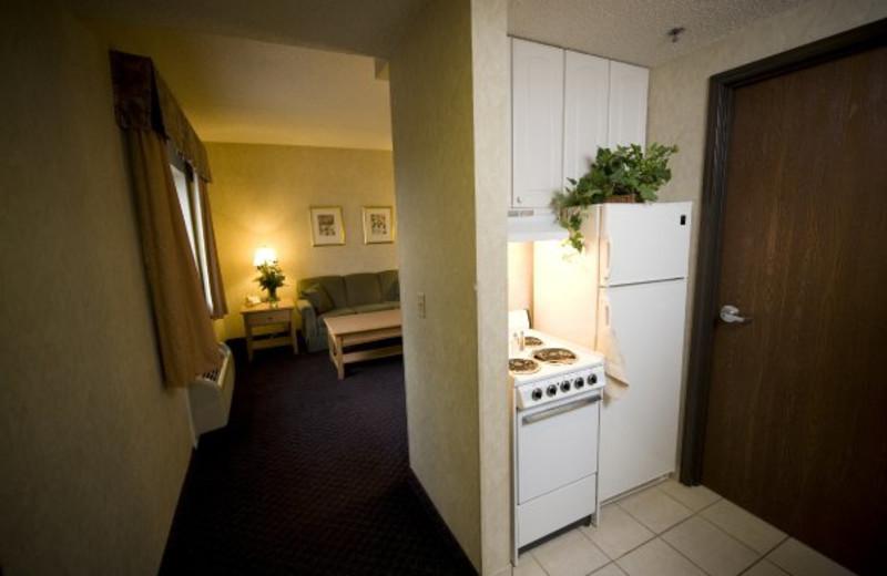 Suite kitchenette at ParkShore Resort.