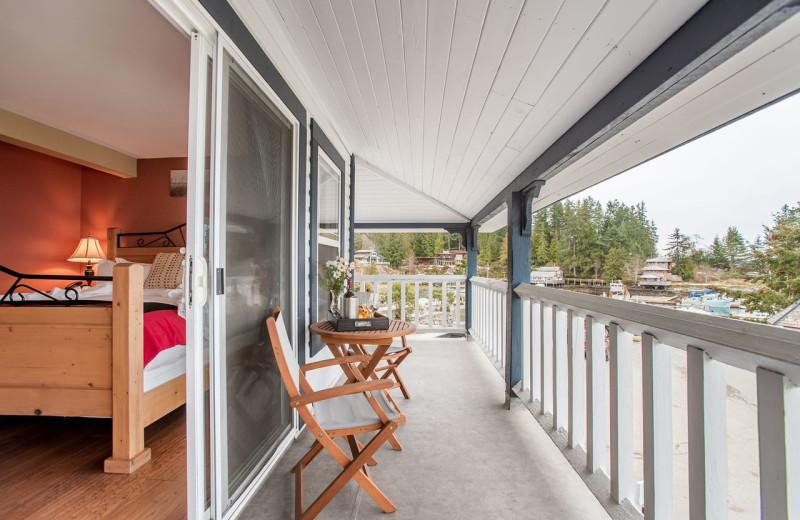 Guest balcony at Lund Resort at Klah ah men.