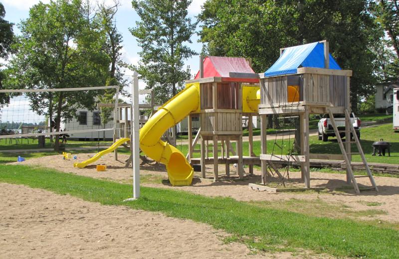 Kid's playground at Mill Lake Resort.