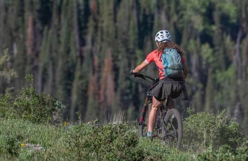 Biking at Vista Verde Ranch.