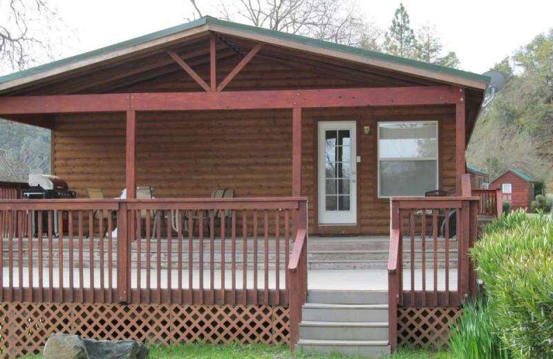 Cabin exterior at Pleasure Cove.