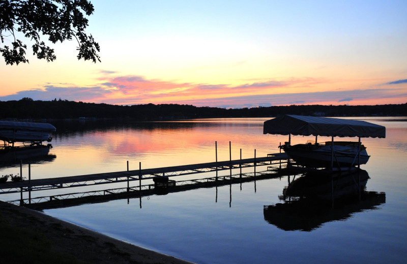 Lake sunset at Otter Tail Lake Camp.