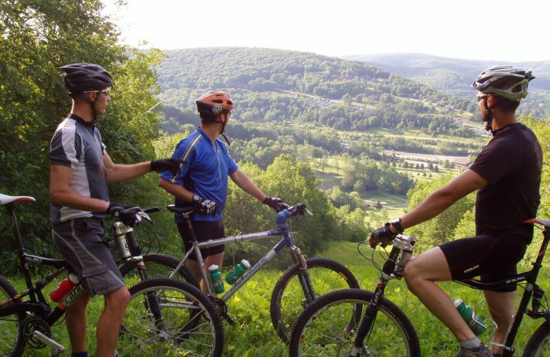 Biking at Holiday Valley Resort.