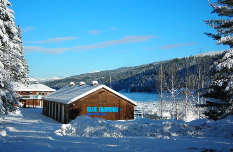 Winter time at Blue Diamond Marina & Resort.